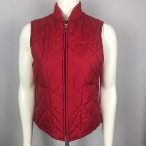 Tommy Hilfiger Red Quilted Vest M